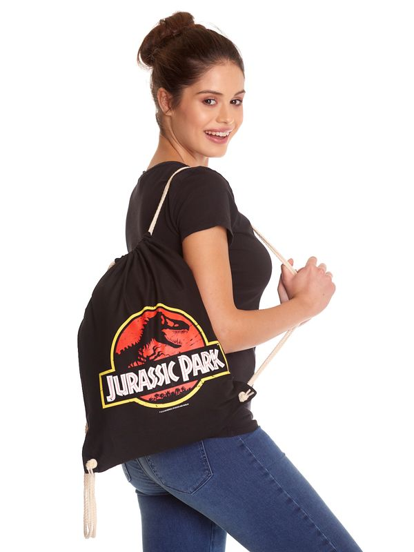 Jurassic Park Logo Gym Bag black view