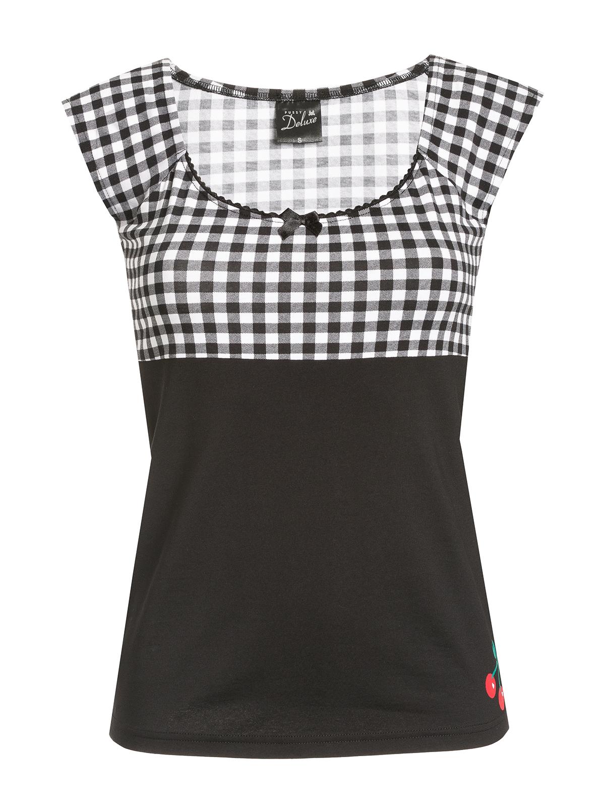 Oberteile - Pussy Deluxe Plaid Evie Damen T Shirt – Größe XS  - Onlineshop NAPO Shop
