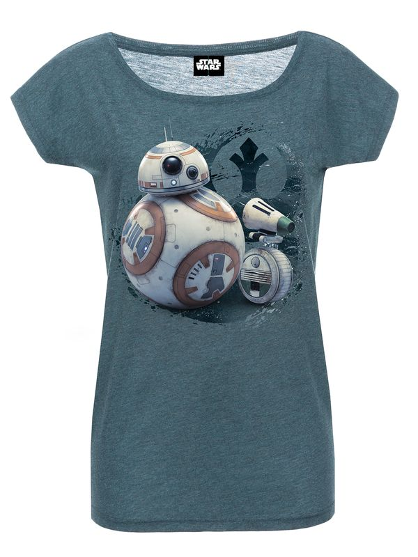 Star Wars Friendship Girl Loose Shirt blue-mel. Ansicht
