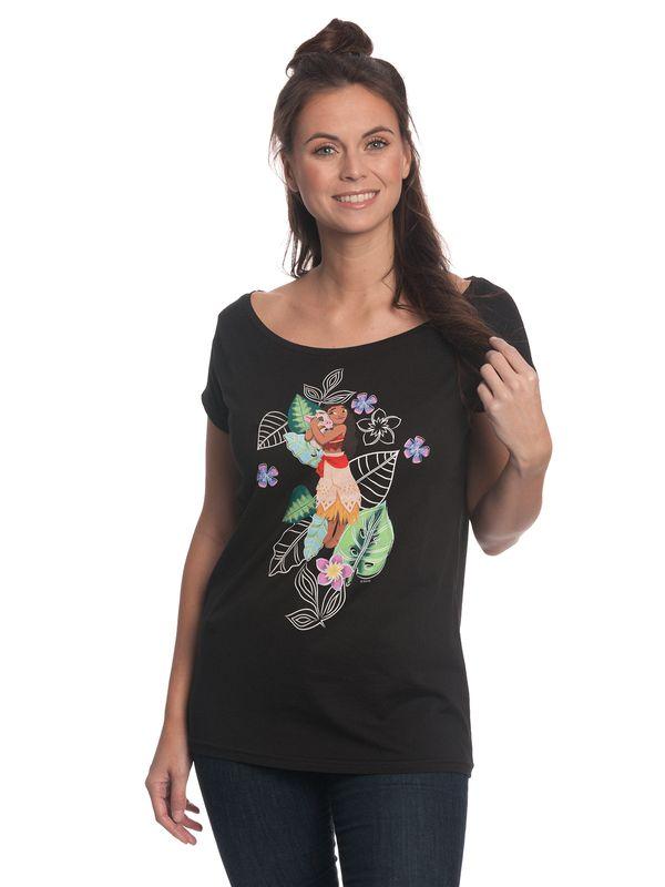 Vaiana Island Queen Girl Loose Shirt black view