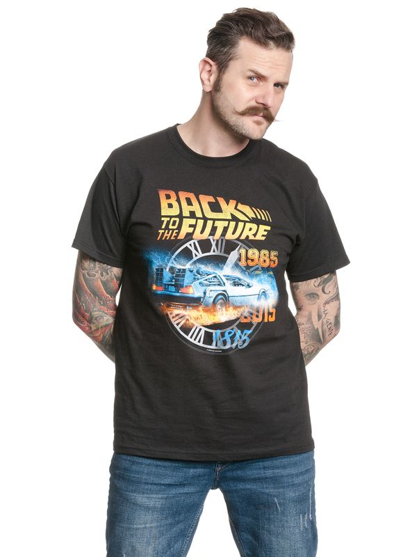 Back To The Future BTTF Time T-Shirt black view