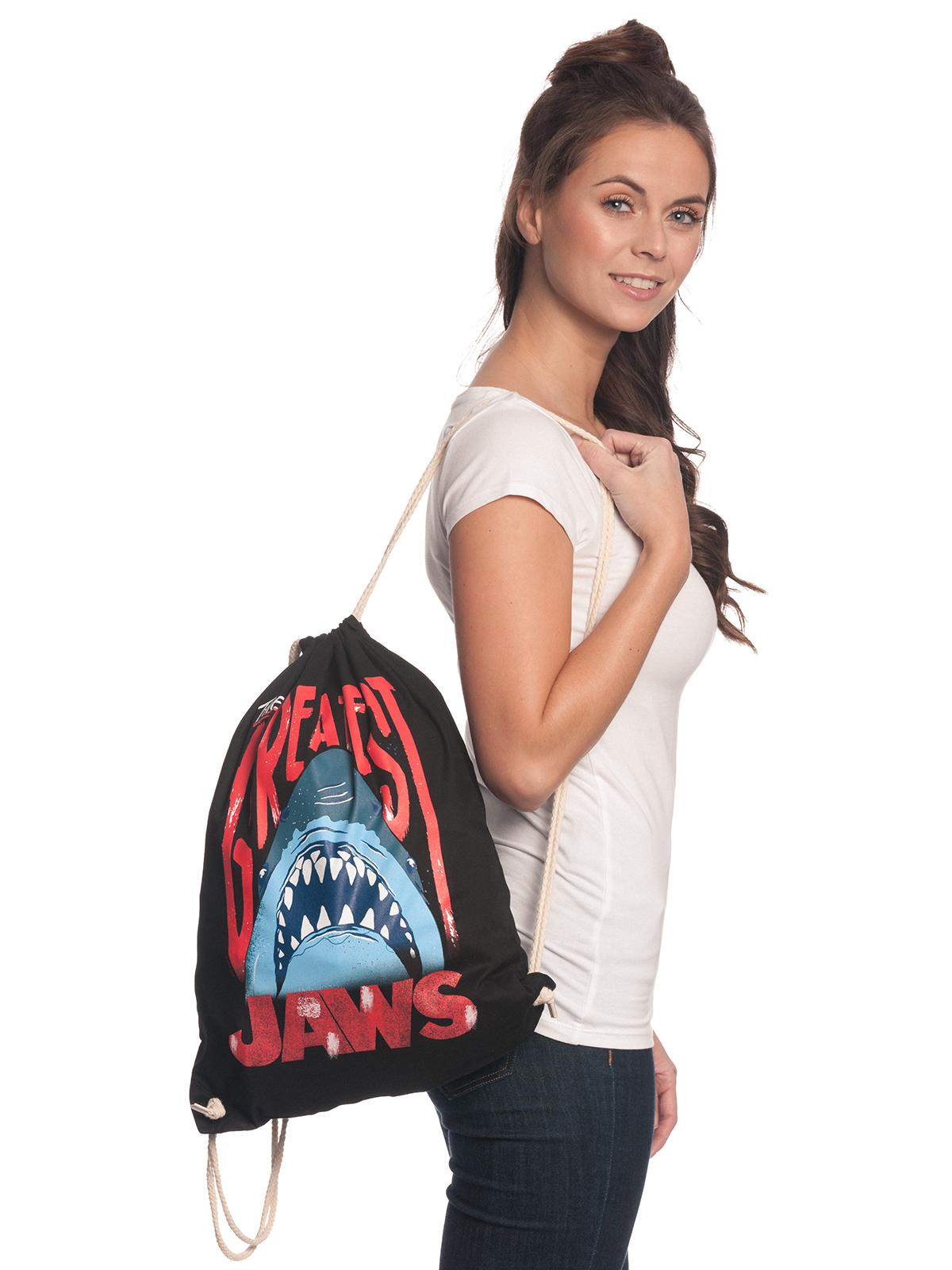 Sporttaschen - Der weisse Hai Jaws The Greatest Turnbeutel schwarz  - Onlineshop NAPO Shop