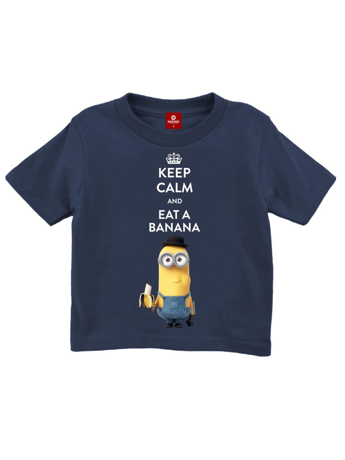 Minions Keep Calm Kinder T Shirt marine blau
