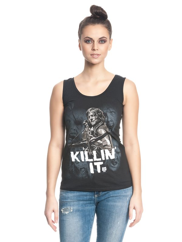 The Walking Dead Killin' It Girl Tank Top schwarz – Bild 3