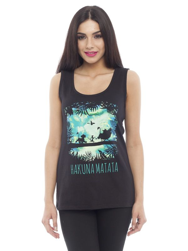 Disney Lion King Timon & Pumba Tank Top black – Bild 1