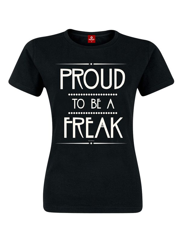 American Horror Story Proud to be a Freak Girl-Shirt, Frauen T-Shirt schwarz – Bild 0