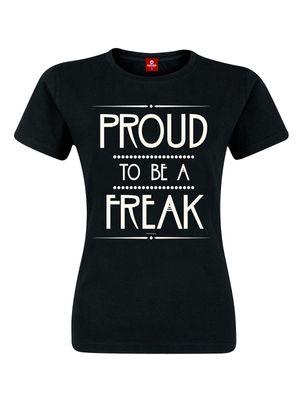 American Horror Story Proud to be a Freak Girl-Shirt, Frauen T-Shirt schwarz – Bild 0