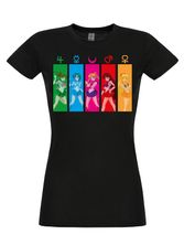 Sailor Moon All Characters Girl-Shirt, Frauen T-Shirt schwarz – Bild 0