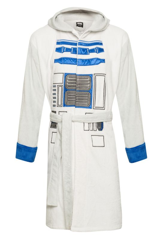 Star Wars R2-D2 Bathrobe white/lightgrey – Bild 1