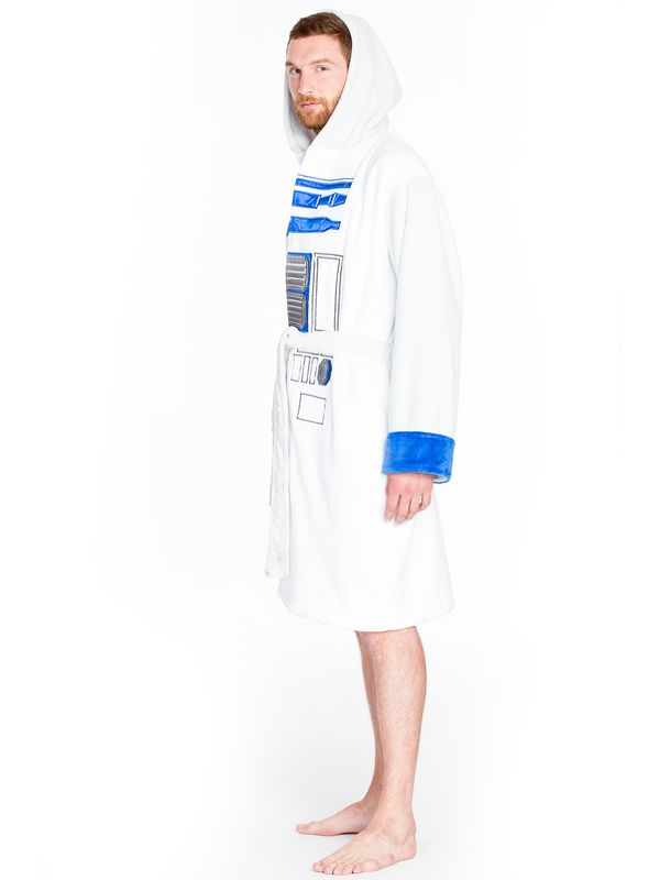 Star Wars R2-D2 Bathrobe white/lightgrey – Bild 3