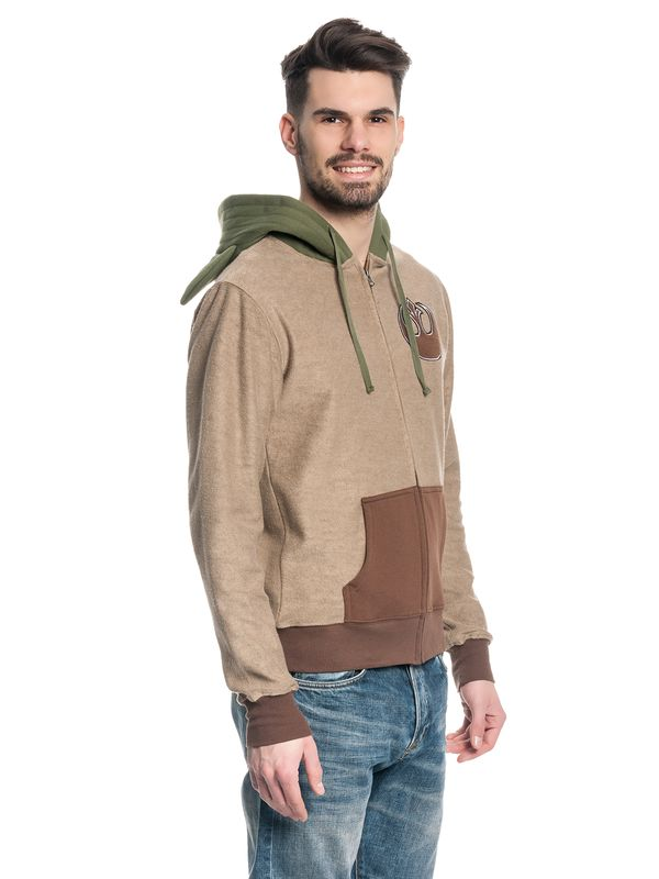 Star Wars Yoda Zip-Hoodie male brown – Bild 2
