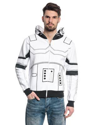 Star Wars Stormtrooper Männer Kapuzenjacke weiss – Bild 1