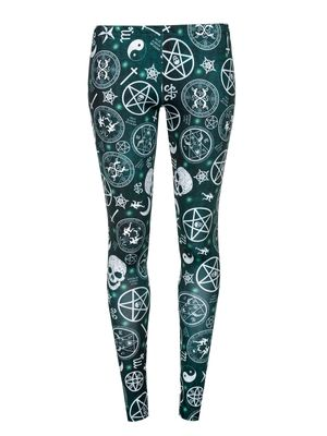 American Horror Story Pentagram Leggings schwarz Allover-Print – Bild 0