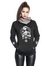 Nightmare Before Christmas Needles & Pins Shawl Hoodie Frauen Kapuzenpullover schwarz/grau – Bild 1