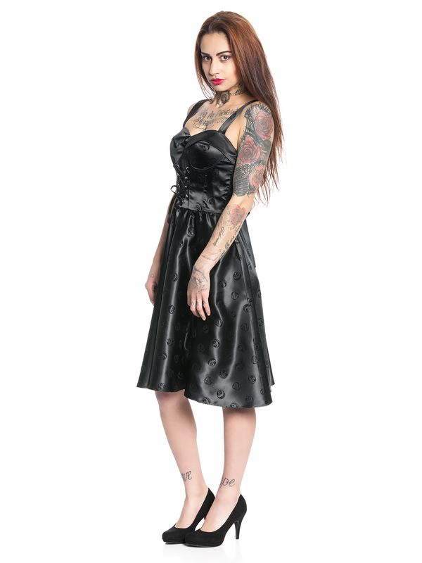 Nightmare Before Christmas Gothic Velvet Kleid schwarz – Bild 3