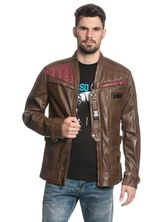 Star Wars Finn Leather Jacket for Men Brown – Bild 2