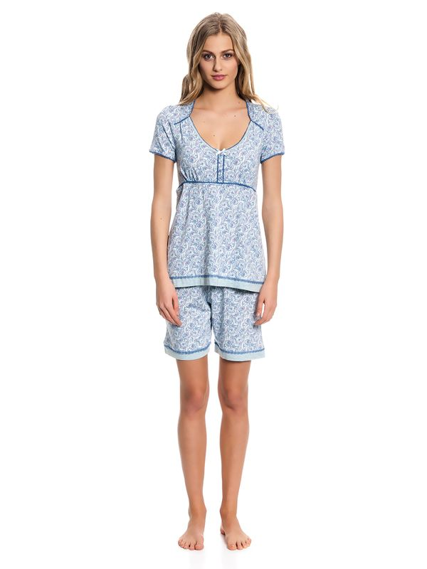Vive Maria Little Peafowl Pyjama Short mint-melange/allover – Bild 1