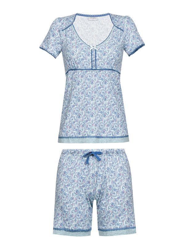 Vive Maria Little Peafowl Pyjama Short mint-melange/allover