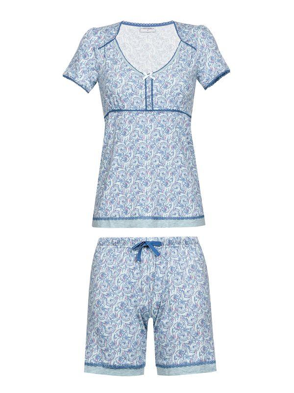 Vive Maria Little Peafowl Pyjama Schlafanzug Short mint-melange/Allover-Print – Bild 0