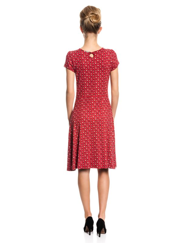 Vive Maria French Fleur Dress Kleid rot Allover-Print – Bild 4