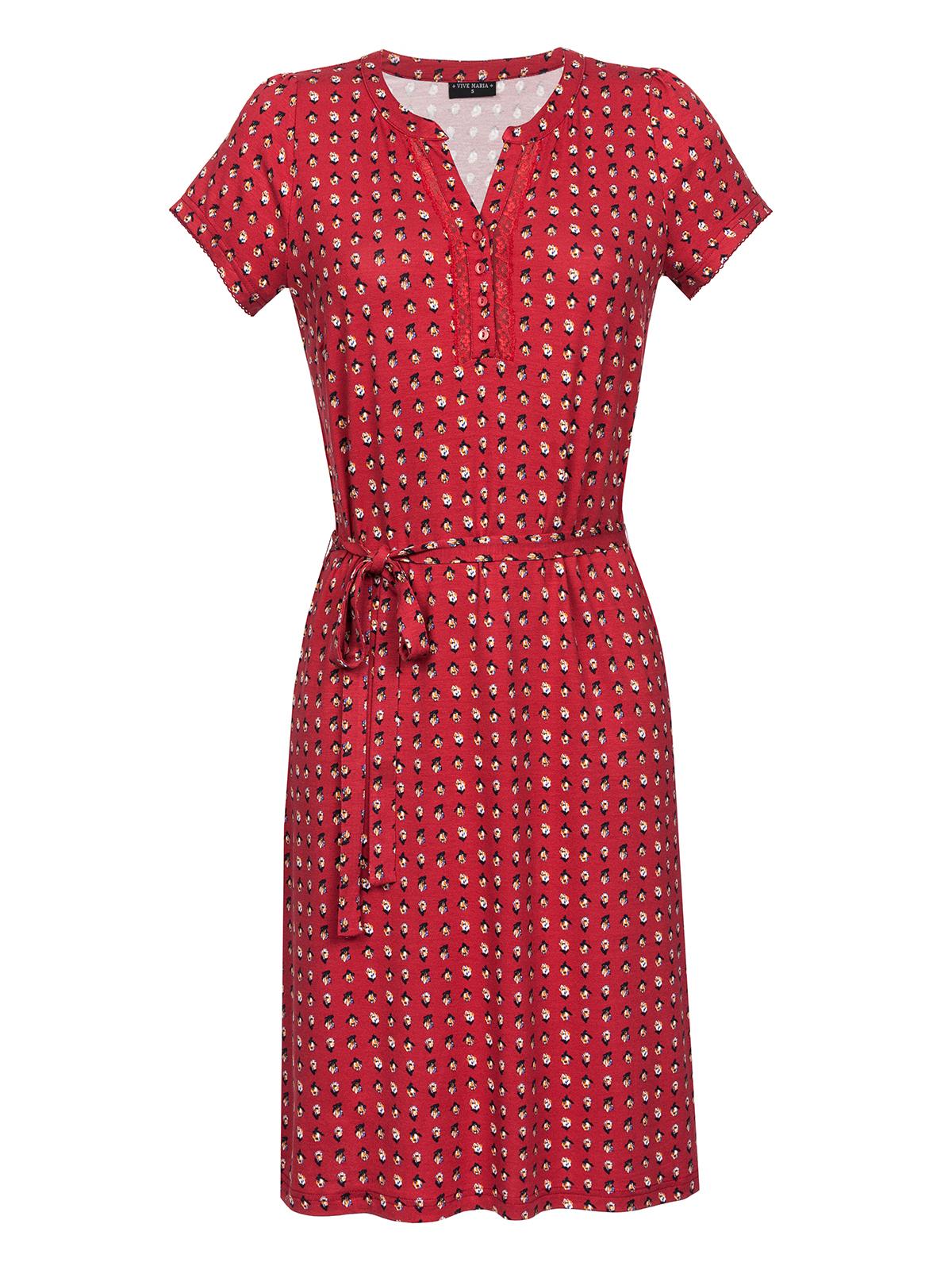 Vive Maria Fleur Rouge Dress Kleid rot Allover-...