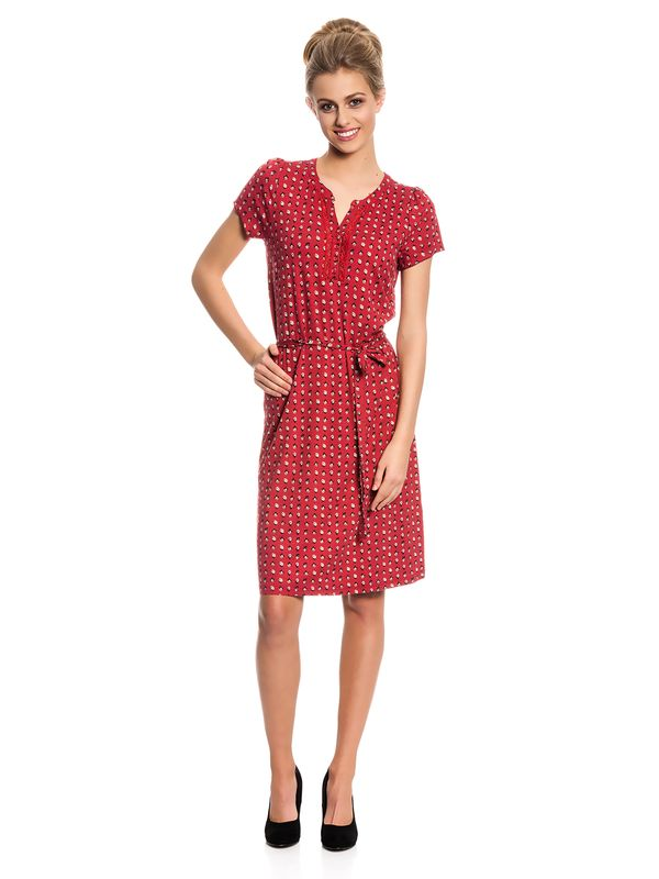 Vive Maria Fleur Rouge Dress Kleid rot Allover-Print – Bild 1