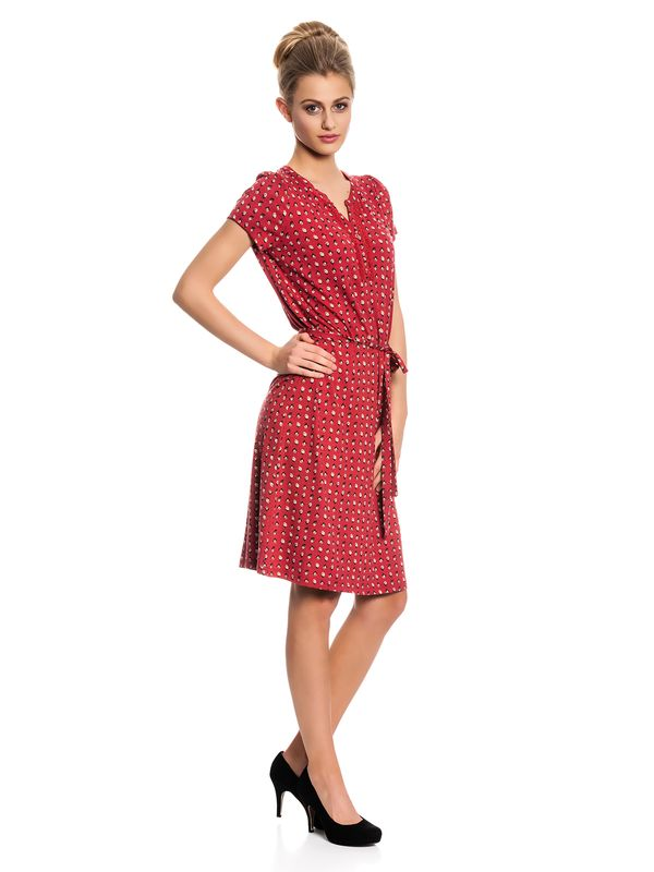 Vive Maria Fleur Rouge Dress Kleid rot Allover-Print – Bild 2