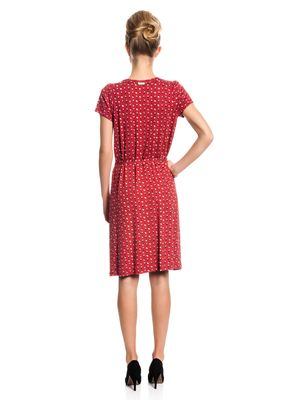 Vive Maria Fleur Rouge Dress Kleid rot Allover-Print – Bild 3