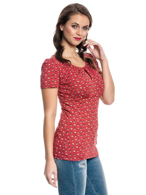 Vive Maria French Fleur Shirt red allover – Bild 3