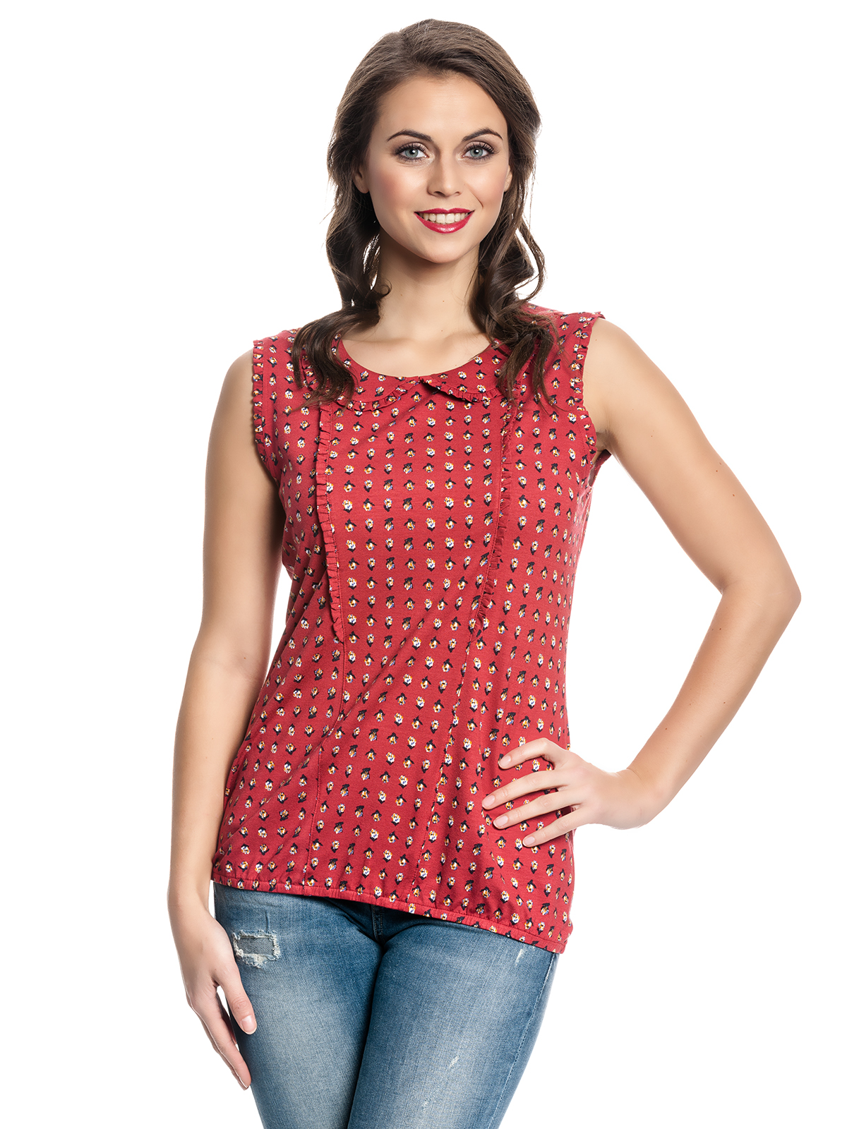 vive maria french fleur top red allover clothing shirts tops blouses. Black Bedroom Furniture Sets. Home Design Ideas