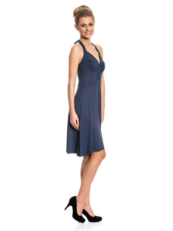 Vive Maria My Navy Neckholder Dress Kleid marine Allover-Print – Bild 2