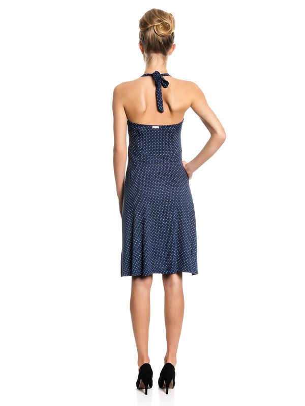 Vive Maria My Navy Neckholder Dress Kleid marine Allover-Print – Bild 3