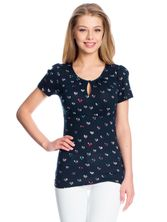 Vive Maria French Girl Shirt navy allover – Bild 1