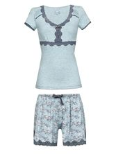 Vive Maria Blue Bird Short Pyjama mint-melange/allover – Bild 0
