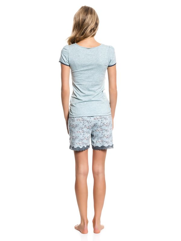 Vive Maria Blue Bird Short Pyjama mint-melange/allover – Bild 3