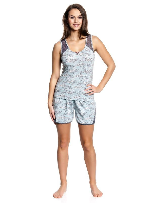 Vive Maria Little Bird Short Pyjama mint-melange/allover – Bild 1
