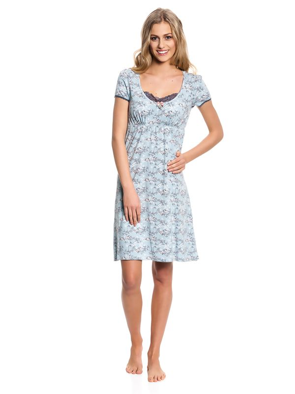 Vive Maria Blue Bird Nightdress Nachthemd Kleid mint-melange/Allover-Print – Bild 1