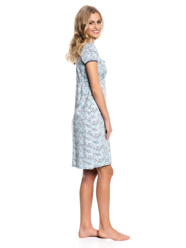 Vive Maria Blue Bird Nightdress Nachthemd Kleid mint-melange/Allover-Print – Bild 2