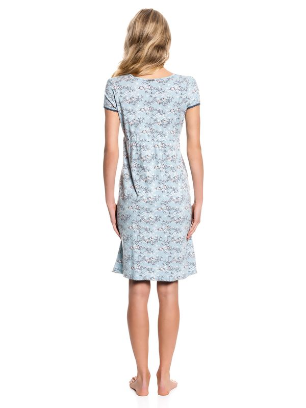 Vive Maria Blue Bird Nightdress Nachthemd Kleid mint-melange/Allover-Print – Bild 3