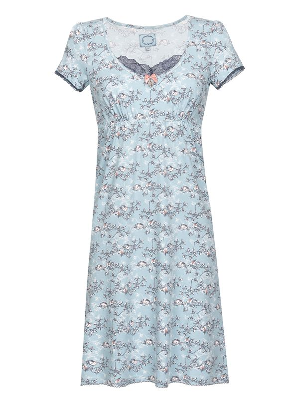Vive Maria Blue Bird Nightdress Nachthemd Kleid mint-melange/Allover-Print – Bild 0