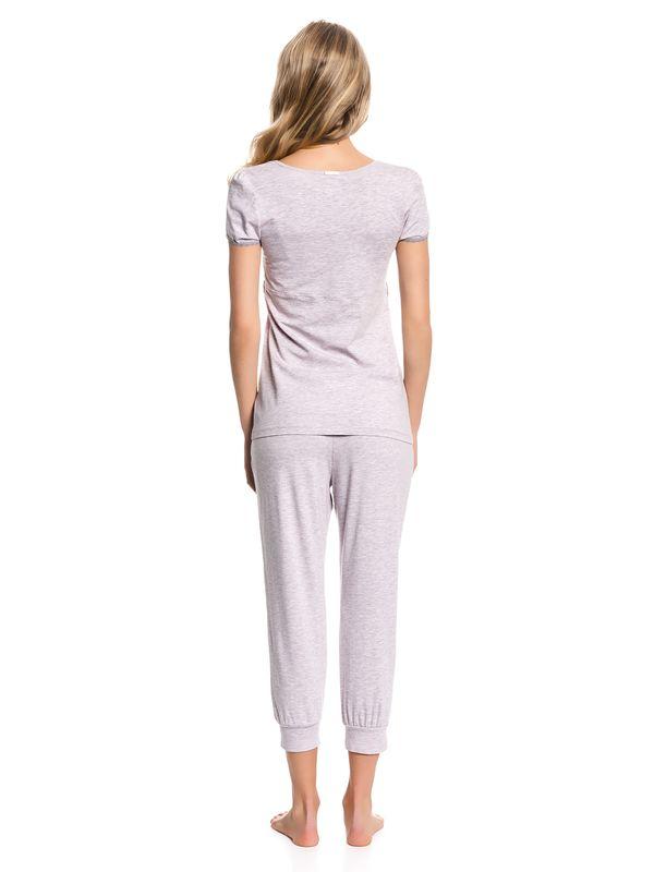Vive Maria Tea Time Pyjama Schlafanzug hellpink-meliert – Bild 3