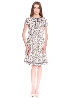 Vive Maria White Blossom Dress Kleid weiss Allover-Print – Bild 1