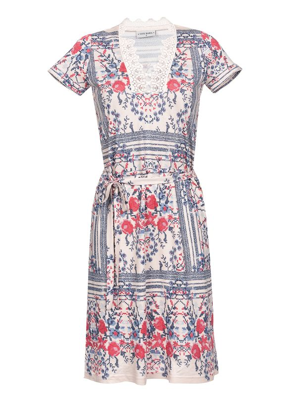 Vive Maria Bohemian Girl Dress Kleid beige Allover-Print – Bild 0