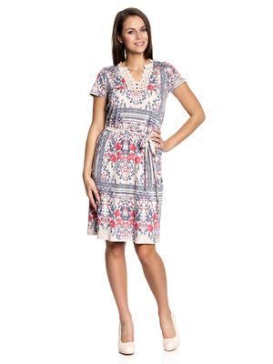 Vive Maria Bohemian Girl Dress Kleid beige Allover-Print – Bild 1
