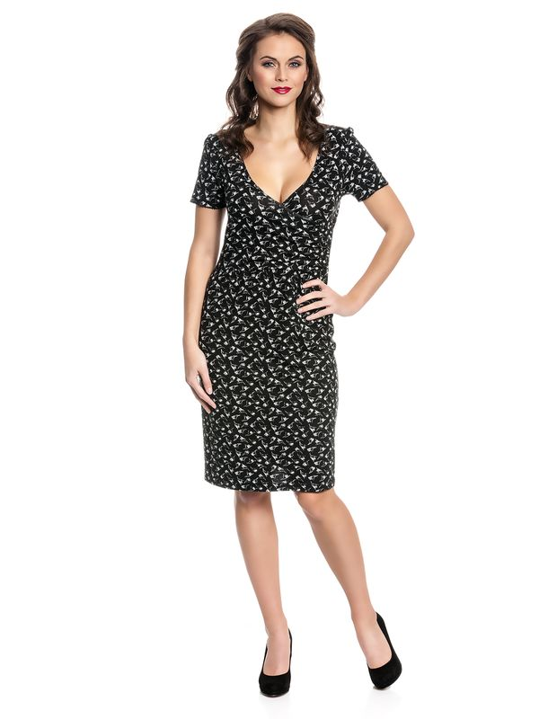 Vive Maria New Wrap Dress Kleid schwarz Allover-Print – Bild 1