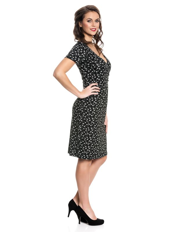 Vive Maria New Wrap Dress Kleid schwarz Allover-Print – Bild 2
