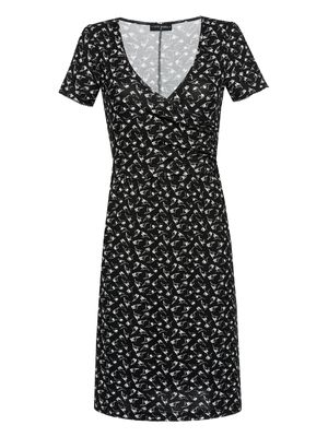 Vive Maria New Wrap Dress Kleid schwarz Allover-Print – Bild 0