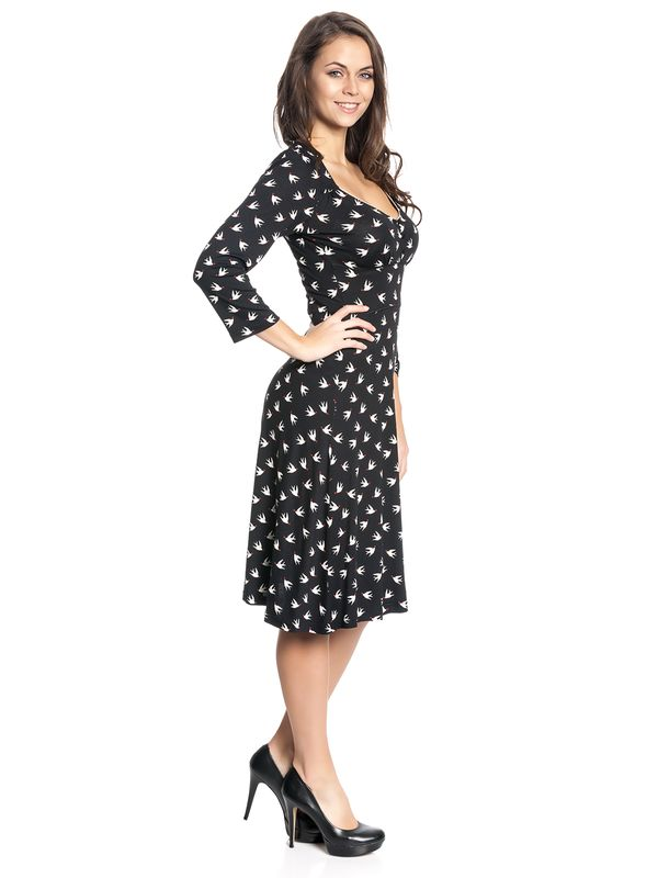 Vive Maria Lovely Birds 3/4 sleeve Dress black – Bild 2
