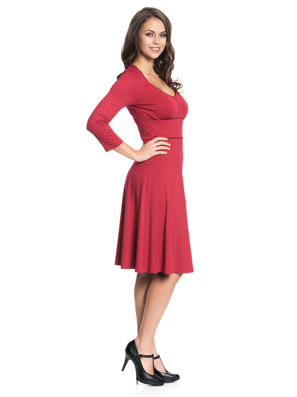 vive maria american beauty 3 4 sleeve dress red women dresses. Black Bedroom Furniture Sets. Home Design Ideas