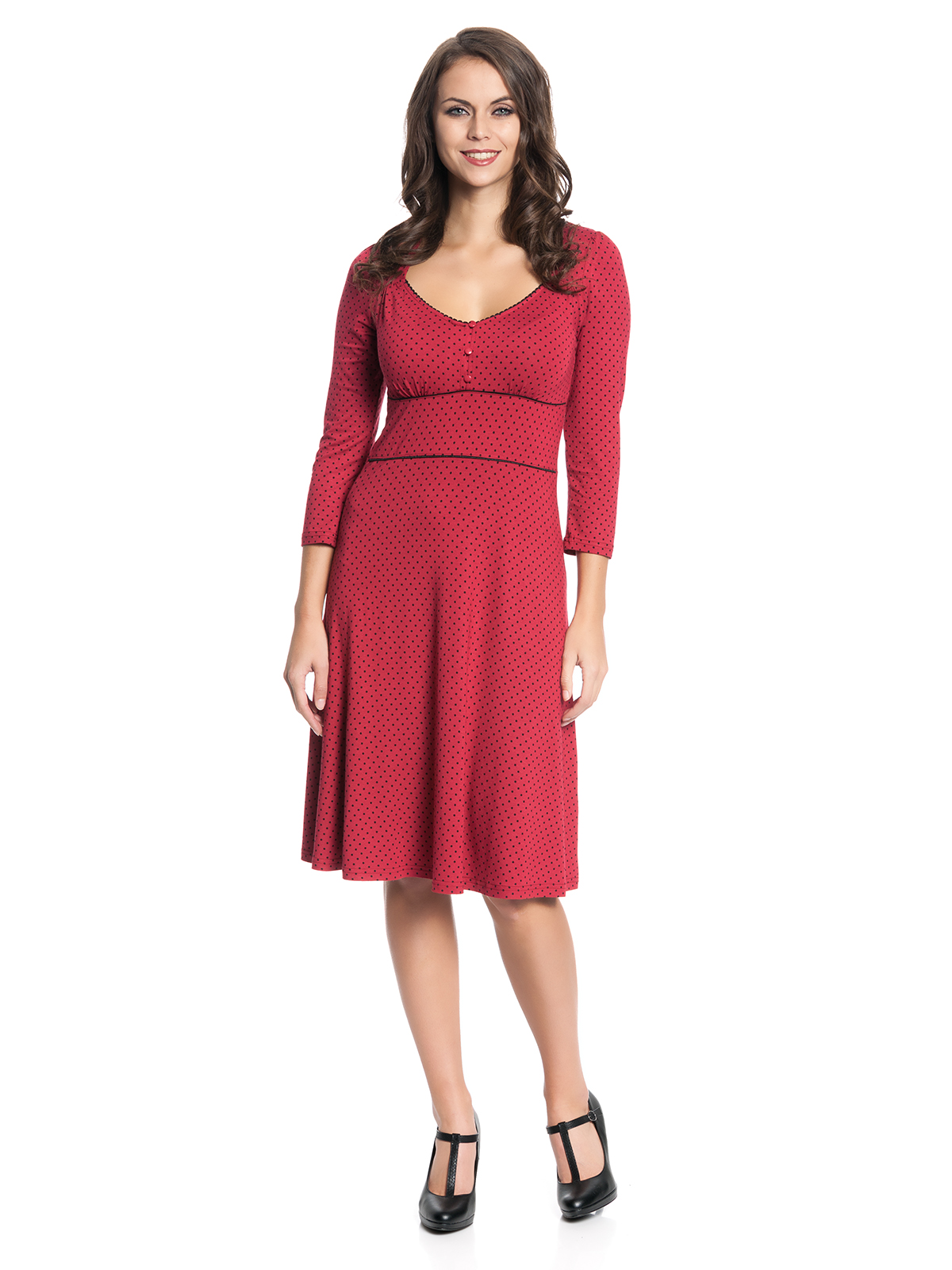 Vive Maria American Beauty 3/4-Arm Kleid rot Damen Kleider